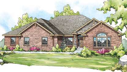 3 Bed, 2 Bath, 2876 Square Foot House Plan - #035-00461
