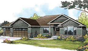 Craftsman House Plan #035-00464 Elevation Photo