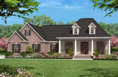 3 Bed, 2 Bath, 1500 Square Foot House Plan - #041-00009