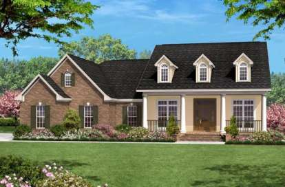3 Bed, 2 Bath, 1600 Square Foot House Plan - #041-00011