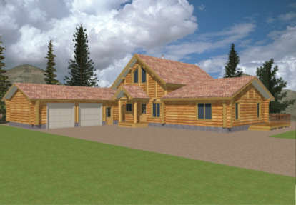 3 Bed, 2 Bath, 2113 Square Foot House Plan - #039-00015