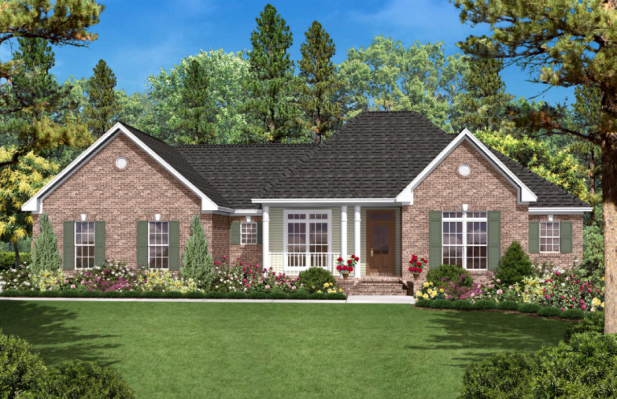 Ranch Plan: 1,600 Square Feet, 3 Bedrooms, 2 Bathrooms