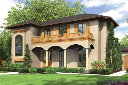 5 Bed, 4 Bath, 3351 Square Foot House Plan - #2559-00549