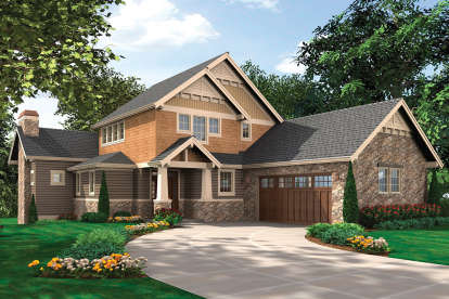5 Bed, 4 Bath, 3926 Square Foot House Plan - #2559-00557