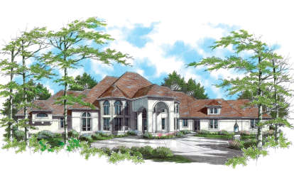 5 Bed, 5 Bath, 7770 Square Foot House Plan - #2559-00564