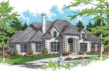 5 Bed, 4 Bath, 5150 Square Foot House Plan - #2559-00569