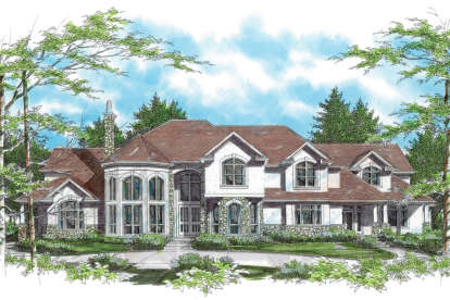 4 Bed, 4 Bath, 5966 Square Foot House Plan - #2559-00574