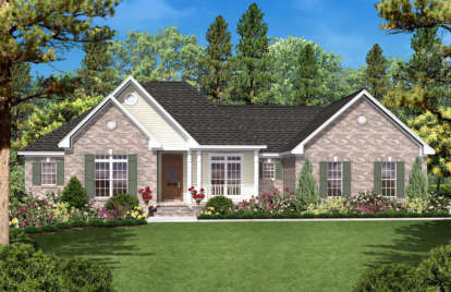 3 Bed, 2 Bath, 1600 Square Foot House Plan - #041-00013