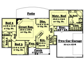 Main Floor for House Plan #041-00013
