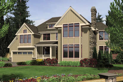 4 Bed, 3 Bath, 4231 Square Foot House Plan - #2559-00595