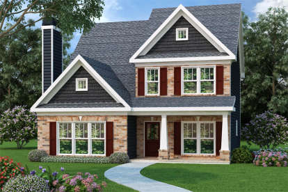 3 Bed, 2 Bath, 1875 Square Foot House Plan - #009-00106