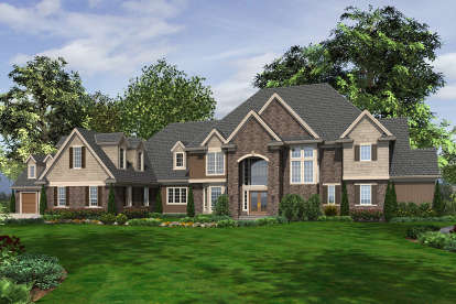 5 Bed, 6 Bath, 7838 Square Foot House Plan - #2559-00610