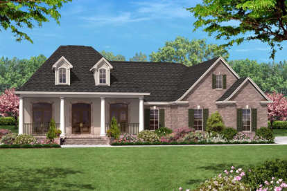 3 Bed, 2 Bath, 1600 Square Foot House Plan - #041-00015
