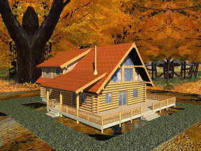 Vacation House Plan #039-00021 Elevation Photo