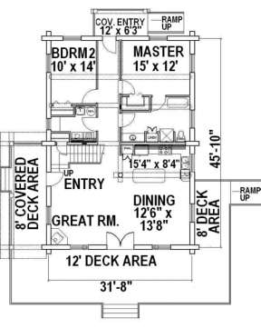 First Floor for House Plan #039-00021
