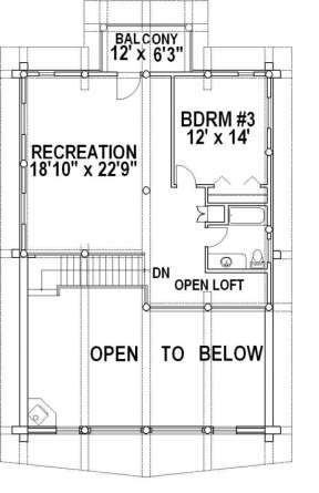 Second Floor for House Plan #039-00021