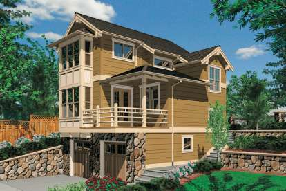 1 Bed, 2 Bath, 1105 Square Foot House Plan - #2559-00662