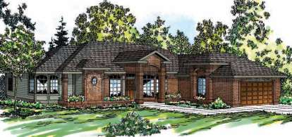 3 Bed, 2 Bath, 2396 Square Foot House Plan - #035-00466