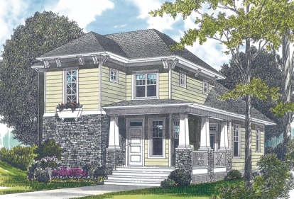 3 Bed, 2 Bath, 1898 Square Foot House Plan - #3323-00048