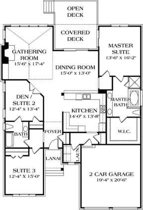 Floorplan 1 for House Plan #3323-00052