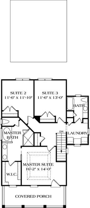 Floorplan 2 for House Plan #3323-00055