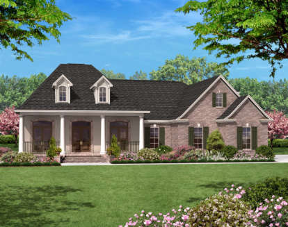 3 Bed, 2 Bath, 2400 Square Foot House Plan - #041-00020