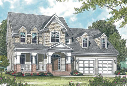 3 Bed, 2 Bath, 2502 Square Foot House Plan - #3323-00136