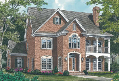 4 Bed, 3 Bath, 2797 Square Foot House Plan - #3323-00186