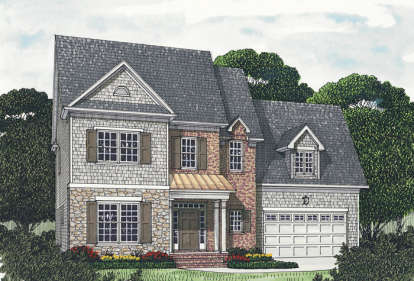 5 Bed, 3 Bath, 2799 Square Foot House Plan - #3323-00191