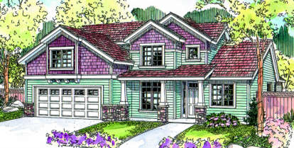 3 Bed, 2 Bath, 2238 Square Foot House Plan - #035-00358