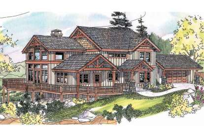 3 Bed, 2 Bath, 2726 Square Foot House Plan - #035-00359