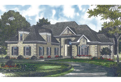5 Bed, 4 Bath, 4663 Square Foot House Plan - #3323-00279