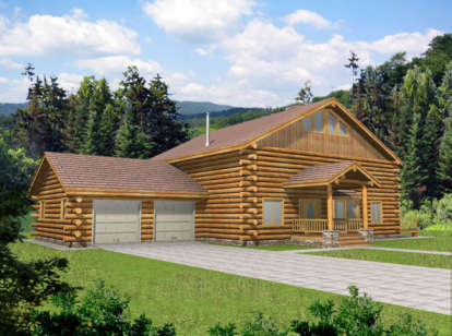 3 Bed, 2 Bath, 3121 Square Foot House Plan - #039-00042