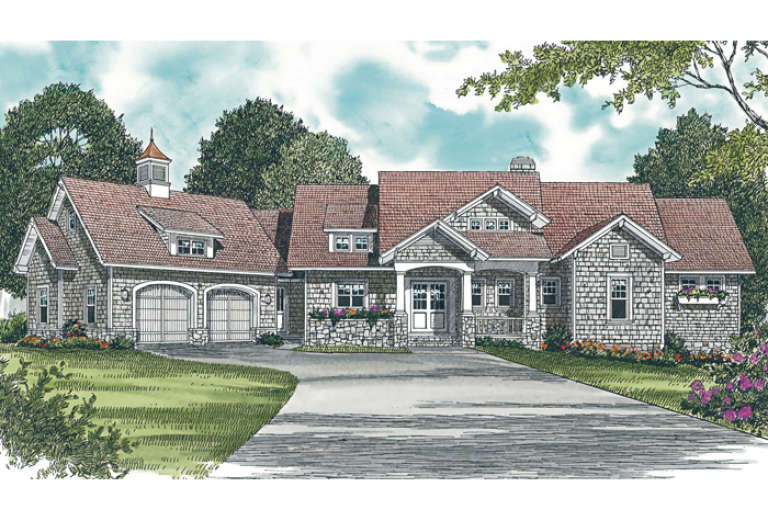 Cottage House Plan #3323-00332 Elevation Photo