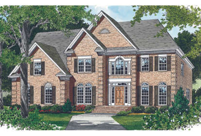 5 Bed, 4 Bath, 3691 Square Foot House Plan - #3323-00350