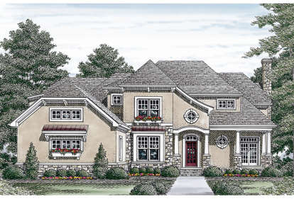 5 Bed, 4 Bath, 5319 Square Foot House Plan - #3323-00357