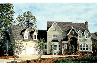 5 Bed, 4 Bath, 5404 Square Foot House Plan - #3323-00361