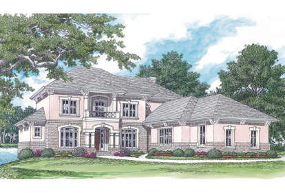 5 Bed, 4 Bath, 5493 Square Foot House Plan - #3323-00362