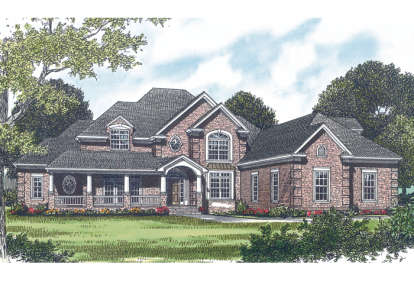 4 Bed, 3 Bath, 5291 Square Foot House Plan - #3323-00364