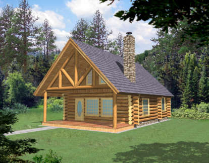 1 Bed, 1 Bath, 1040 Square Foot House Plan - #039-00050