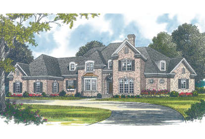 5 Bed, 4 Bath, 5589 Square Foot House Plan - #3323-00396