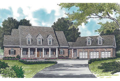 6 Bed, 7 Bath, 5239 Square Foot House Plan - #3323-00400