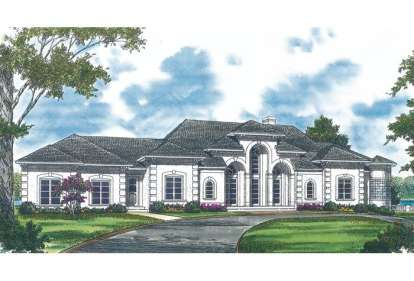 4 Bed, 3 Bath, 4084 Square Foot House Plan - #3323-00407