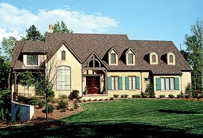 4 Bed, 5 Bath, 5381 Square Foot House Plan - #3323-00408