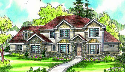 4 Bed, 3 Bath, 3342 Square Foot House Plan - #035-00364