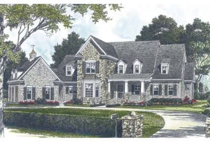 3 Bed, 3 Bath, 4188 Square Foot House Plan - #3323-00421
