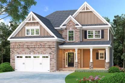 4 Bed, 3 Bath, 2564 Square Foot House Plan - #009-00111
