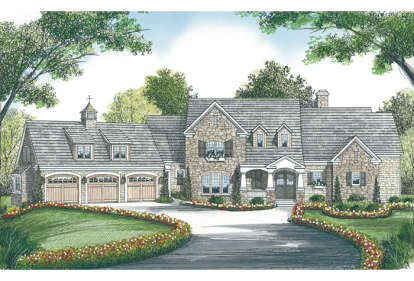 5 Bed, 4 Bath, 6288 Square Foot House Plan - #3323-00446