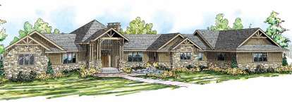 4 Bed, 3 Bath, 5110 Square Foot House Plan - #035-00478