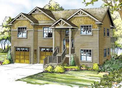 2 Bed, 3 Bath, 1820 Square Foot House Plan - #035-00484